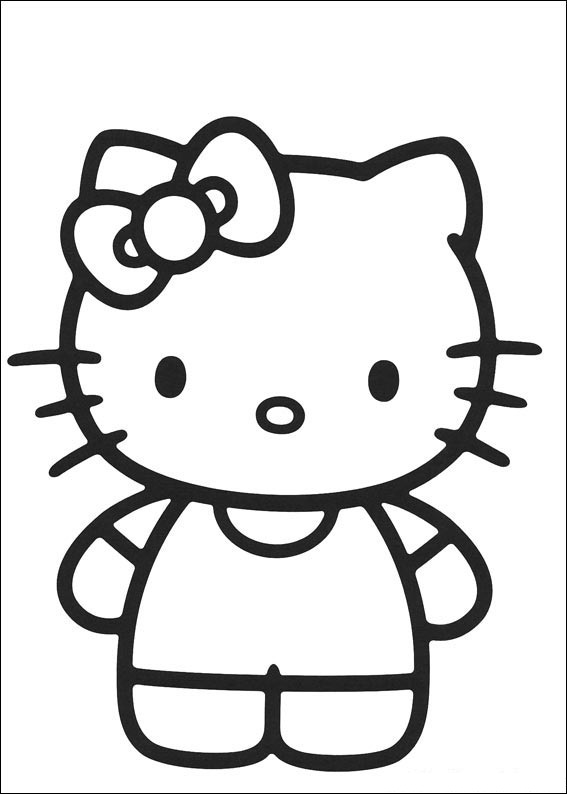 87 Gambar Kartun Hitam Putih Hello Kitty HD Terbaik