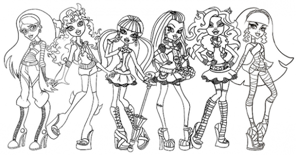 Monster High Coloring Pages - Z31